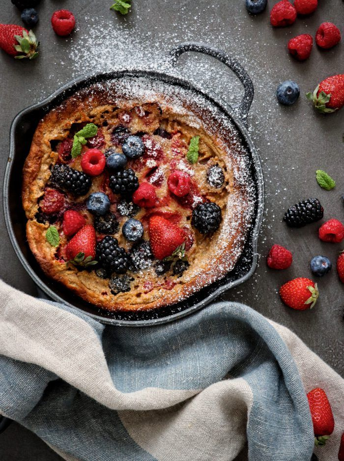 Dutch baby con frutos rojos