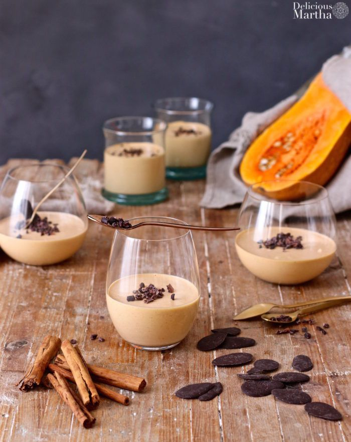 Mousse de calabaza y cafe