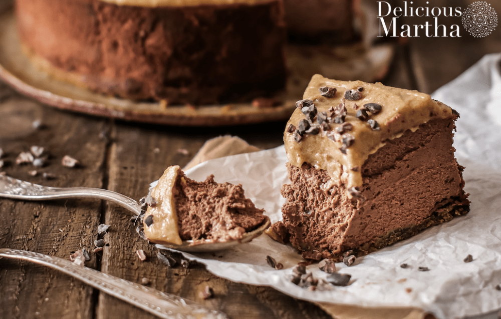 cheesecake de chocolate y caramelo