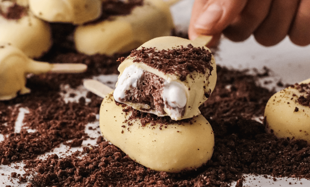 Mini magnum de chocolate blanco y mascarpone