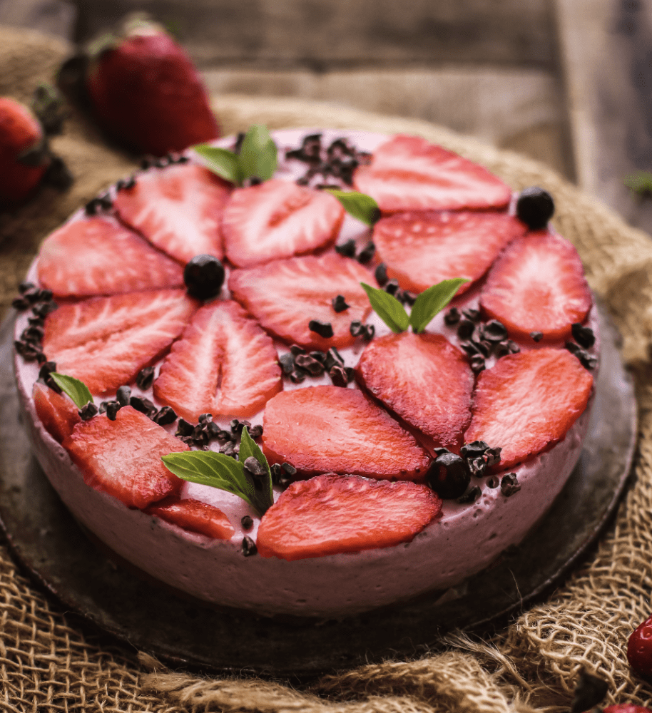 cheesecake de fresa saludable